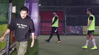 Arjun Kapoor, Abhishek Bachchan, Banti Walia Play Football Practice Match