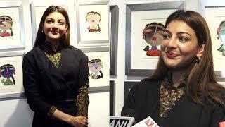 Kajal Aggarwal Visits Studio 3 Art Gallery's Divine Intervention Soulful Narratives
