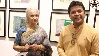 Paintings Exhibition ChronologicalClouds by artist Raj Bharti inaugurated by Legendary WaheedaRehman