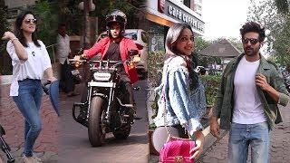 Spotted : Sunny Leone, Rajkummar Rao & Kiara Advani With Kartik Aaryan