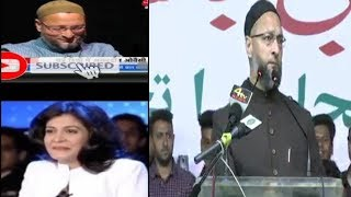 Asad Uddin Owaisi And Anjana Om Kashyap Viral Videos | Asad Uddin Owaisi Gets Angry |