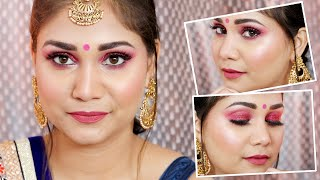 Very Easy Glossy/ Glowy LOHRI/WEDDING GUEST/FESTIVE Makeup Look | Lohri Makeup Look | Nidhi Katiyar