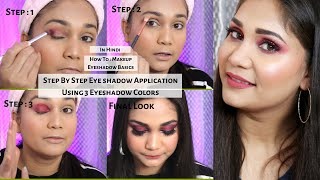 How to : Makeup | Beginners Eyeshadow Tutorial + Parts Of Eyes | Transition Color  | Nidhi Katiyar