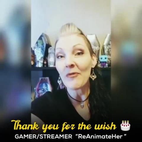 Thanks to one of the best Gamers and Streamers we have in the gaming world 'ReAnimateHer'... i alway enjoy watching her streams and look up for it