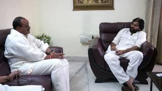 TDP leaders at PawanKalyan home || పవన్ కళ్యాణ్ ఇంట్లో టీడీపీ నేతలు  || social media live