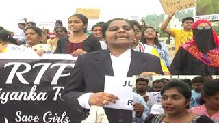 Youth demand justice for Telangana doctor Priyanka Reddy || social media live