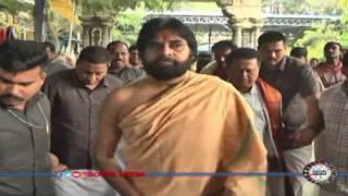 Pawan Kalyan in the Tirumala temple specific prayers || social media live