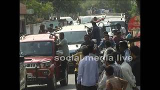 Pawan kalyan convoy entry to amaravati farmers protest || social media live
