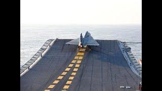 Naval LCA maiden ski jump take off from INS Vikramaditya