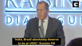 India, Brazil absolutely deserve to be at UNSC': Russian FM