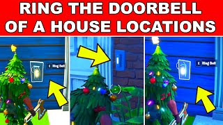 Ring the Doorbell of a House with an opponent inside in different matches Fortnite 8-Ball vs Scratch