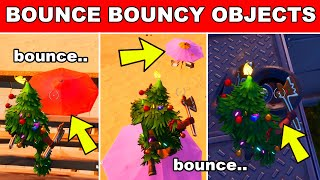 Bounce on Bouncy Objects in different Matches Fortnite - 8-Ball vs Scratch