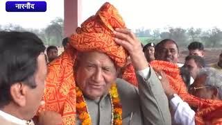 ऊर्जामंत्री ने दी 11 लाख की आर्थिक सहायता     ANV NEWS  NARNAUND - HARYANA