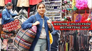 JANPATH MARKET, NEW DELHI WINTER COLLECTION VLOG | Better Than Sarojini Nagar ?? | Nidhi Katiyar