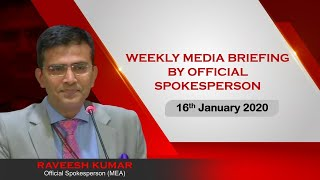 Weekly Media Briefing by Official Spokesperson (January 16, 2020)