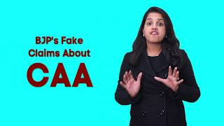 BJP's Fake Claims About Citizenship Amendment Act (CAA)