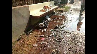 Water Pipeline Bursts At Ponda Thousands Of Litre Water Wasted, Shops Setup For Purnima Damaged