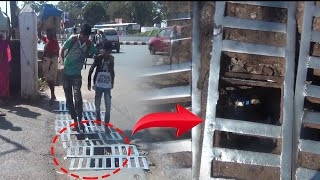 WATCH: Drainage grills at Mapusa bus stand pose danger to commuters