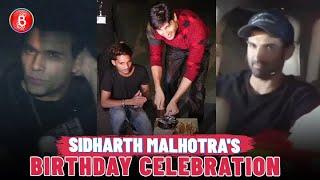 Sidharth Malhotra Rings in Birthday with Aditya Roy Kapur & Karan Johar