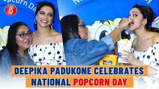 Deepika Padukone enjoys popcorn with Meghna Gulzar on National Popcorn Day