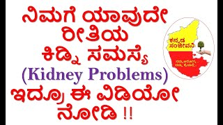 Home remedies for Kidney Problems in Kannada | How to remove Kidney Stones | Kannada Sanjeevani