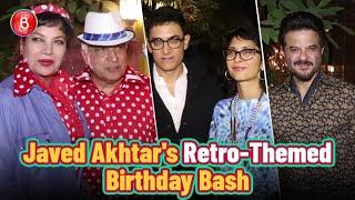 Javed Akhtar Hosts A Retro-Themed 75th Birthday Bash | Aamir Khan | Anil Kapoor | Kiran Rao