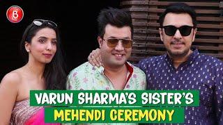 B-Town Celebs Have A Gala Time At Varun Sharma's Sister's Mehendi Ceremony | Dinesh Vijan