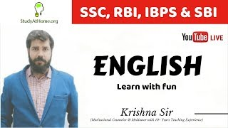 SHORT TRICKS WITH APPLIED VOCABULARY BY KRISHNA SIR | USEFUL FOR SSC, BANK, CDS & MBA ENTRANCE EXAMS