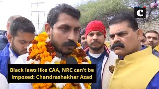 Black laws like CAA, NRC can't be imposed: Chandrashekhar Azad