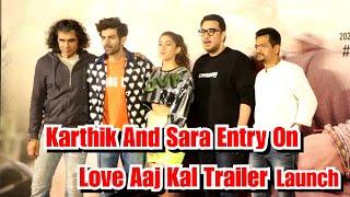 Karthik Aaryan And Sara Ali Khan Surprise Entry On Love Aaj Kal Trailer Launch