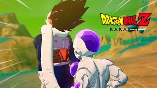 Frieza Kills Vegeta Fight Scene - Dragon Ball Z Kakarot