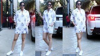 Kriti Sanon Shines In White Spotted At Maddock Office Santacruz