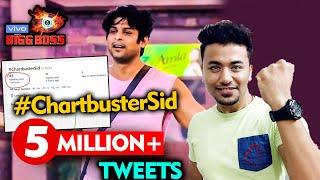 Bigg Boss 13 | Sidharth Shukla Fans Trend #CharbusterSid CROSSES 5 Million Tweets | BB 13 Video