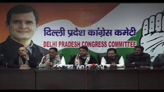 LIVE: AICC Press Briefing at Delhi Congress HQ on Delhi Assembly Election 2020