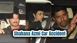 Shabana Azmi Car Accident : Anil Kapoor, Farhan Akhtar & Tabu snapped at the Mumbai Hospital