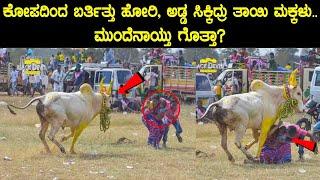 ಕೋಪದಿಂದ ಬರ್ತಿತ್ತು ಹೋರಿ, ಅಡ್ಡ ಸಿಕ್ಕಿದ್ರು ತಾಯಿ ಮಕ್ಕಳು..ಮುಂದೆನಾಯ್ತು ಗೊತ್ತಾ? | #Bull #Pongal #Jallikattu