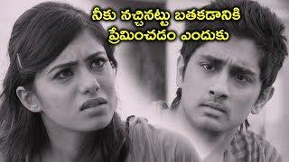 నీకు నచ్చినట్టు బతకడానికి ప్రేమించడం | Siddharth Latest Movie Scenes | Naalo Okkadu