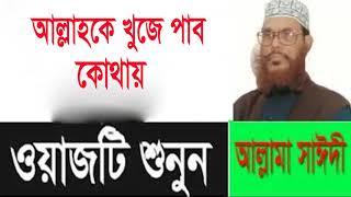 আল্লাহকে খুজে পাব কোথায় । সাঈদী বাংলা ওয়াজ । Bangla Waz Mahfil Allama Delwar Hossain Saidi