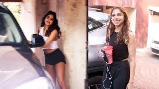 Janhvi Kapoor And Sharmin Segal Spotted At Pilates Gym Santacruz