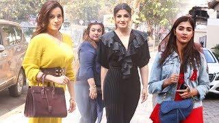 Pooja Hegde, Raveena Tandon And Neelam Kothari Spotted In Mumbai