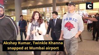 Akshay Kumar, Twinkle Khanna snapped at Mumbai airport