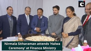 Nirmala Sitharaman attends 'Halwa Ceremony' at Finance Ministry