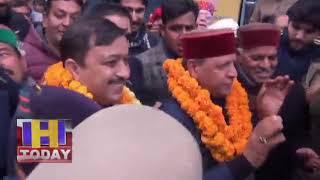 20 JAN N 12 B 3 सोलन  में  भाजपा अध्यक्ष राजीव बिंदल का गर्मजोशी के साथ स्वागत किया