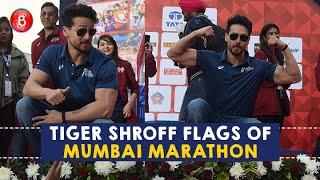 Tiger Shroff Flaunts His Muscles As He Flags Off The Mumbai Marathon