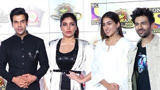 Sara Ali Khan With Kartik Aaryan & Rajkumar Rao With Bhumi Pednekar At Mumbai Police Welfare Event