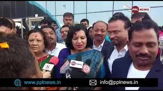 Smt. Aparajita Sarangi receives grand Welcome in Surat - ସୁରଟ ରେ ପହଞ୍ଚି କଣ କହିଲେ ଅପରାଜିତା?