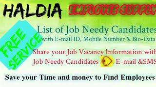 HALDIA     EMPLOYEE SUPPLY   ! Post your Job Vacancy ! Recruitment Advertisement ! Job Information !