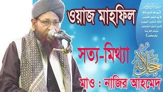 ওয়াজটি শুনলে মিথ্যা বলা ছেড়ে দিবেন । Mawlana Nazir Ahmed New Bangla Waz Mahfil | Islamic BD