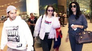 Mallika Sherawat And Street Dancer 3D Jodi Shraddha kapoor, Varun Dhawan Spotted At Mumbai Airport