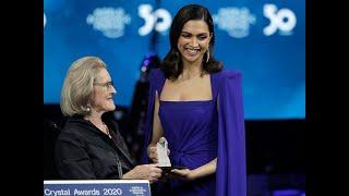 Deepika Padukone feted at WEF; talks mental health, hope
